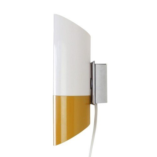 Ochre and white cylinder wall light, 1960s