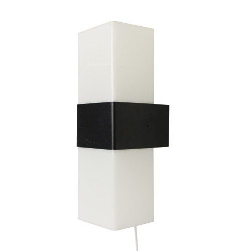 Black and white wall light by Asea Skandia, 1970s