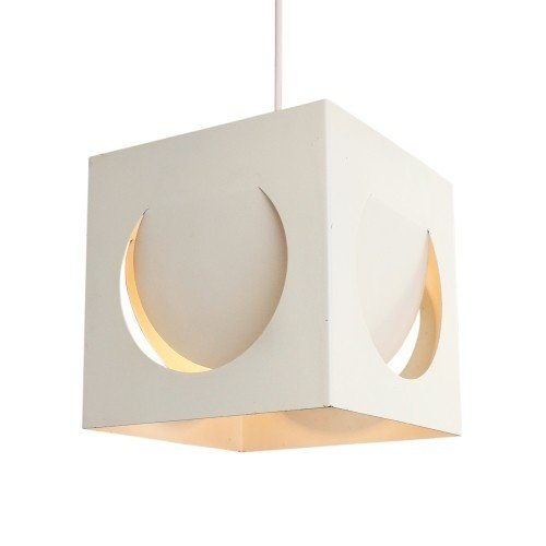White Model 61-193 pendant light by Shogo Suzuki for Stockmann Orno, 1970s
