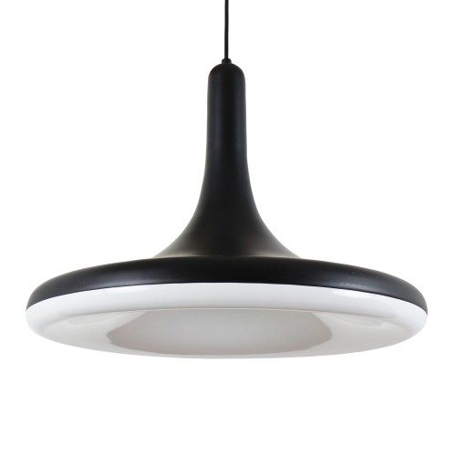 Matte black 'Soft Trumpet' pendant light by 365° North for Frandsen Denmark