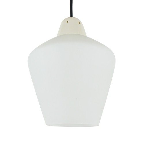 Vintage Milk glass Philips pendant light, 1960s