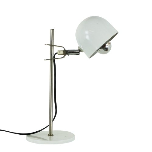 Small white adjustable desk light, 1970s