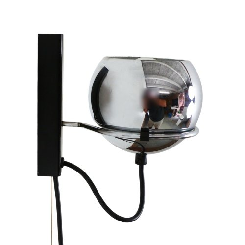 Chrome eyeball wall light, 1970s
