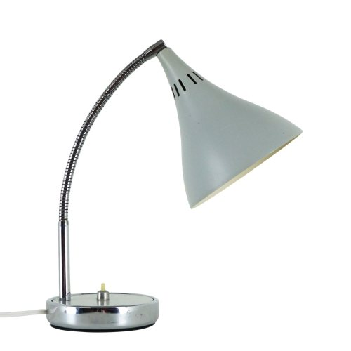 Grey trumpet shaped desk light, 1970s