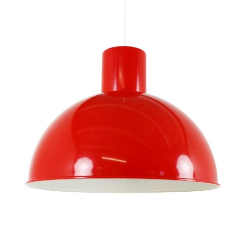 Red Bunker pendant by Jo Hammerborg for Fog and Mørup, 1970s