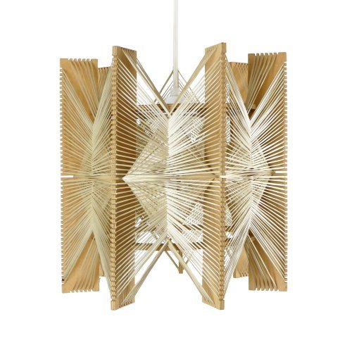 Geometric pendant in wire and wood, 1960s